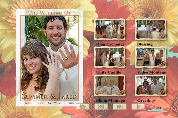 This is a full Sample Wedding DVD complete with chapter indexing and layout